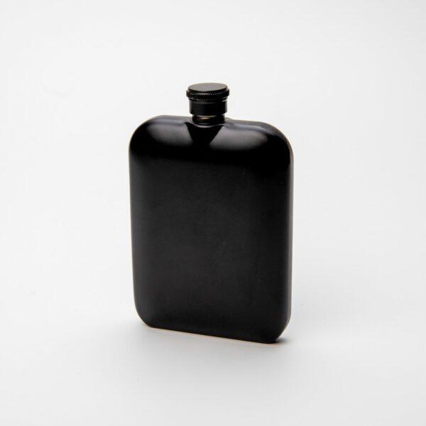 Luxusní nerezová placatka černá
