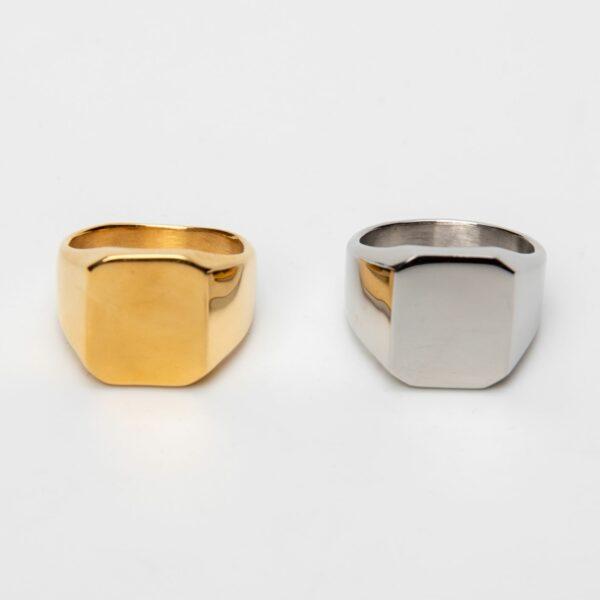 pánský prsten z nerezové oceli