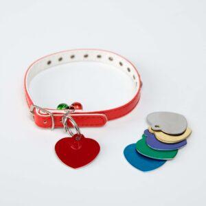 Psí známka pro mazlíčky - srdce, různé barvy