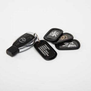ID známka karbonová na klíče