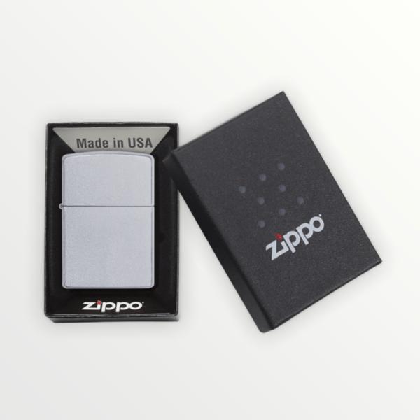 Originální Zippo benzínový zapalovač Satin Chrome