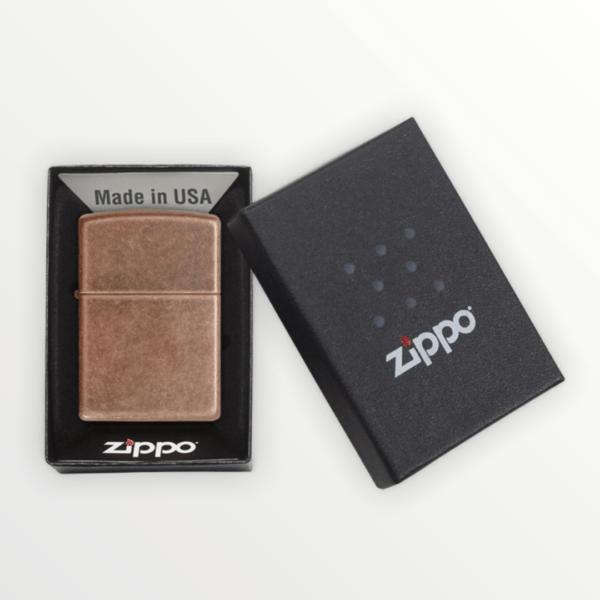 Originální Zippo benzínový zapalovač ANTIQUE COPPER 29018