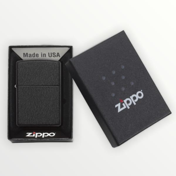 Originální Zippo benzínový zapalovač BLACK CRACKLE ™ 26075