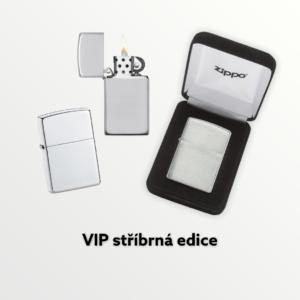 VIP Zippo kolekce z ryzího stříbra