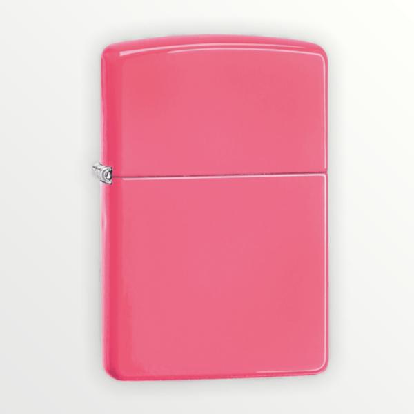 Zippo zapalovač růžový neon