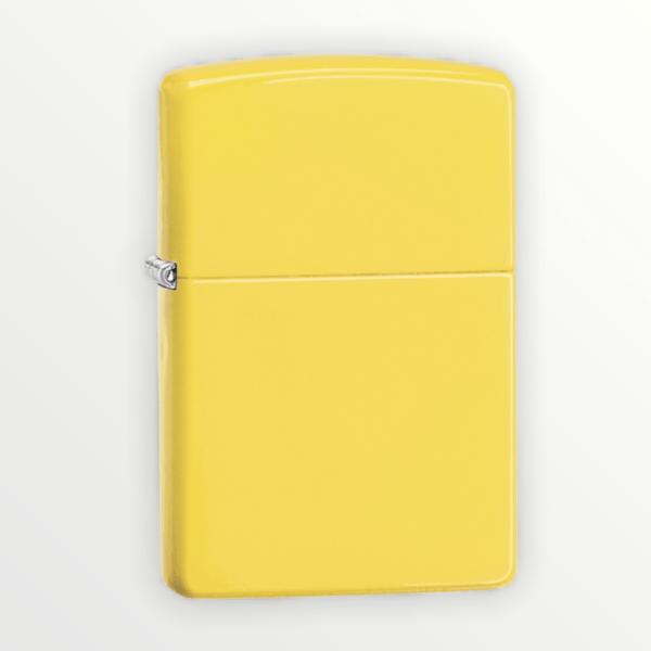 Zippo zapalovač žlutý citronový