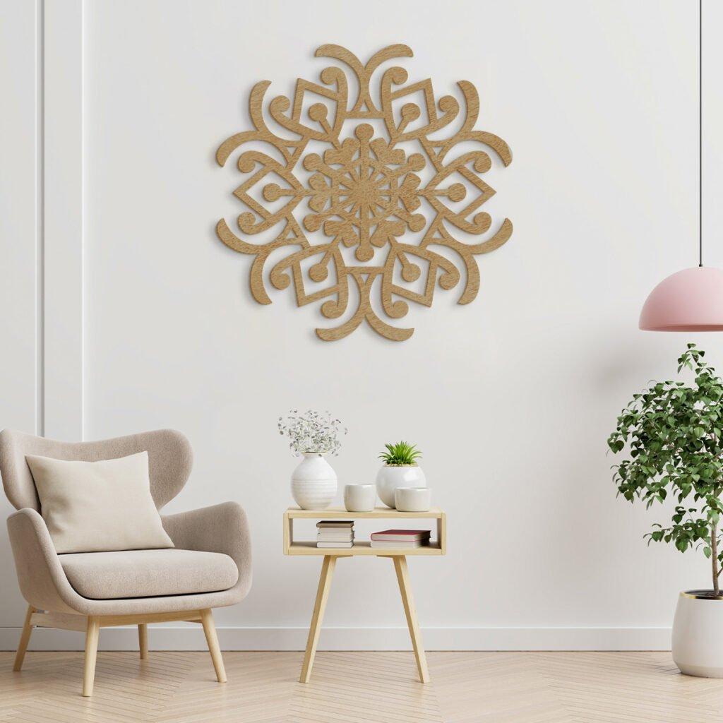 3D dřevěné obrazy do domácnosti - mandala, různé barvy