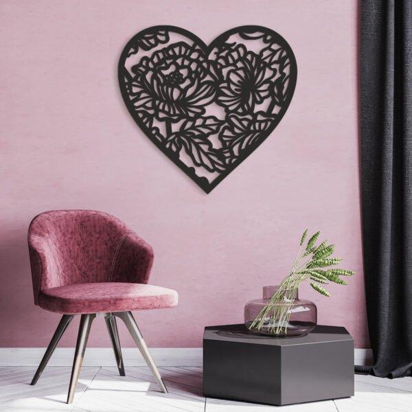 3D dřevěné obrazy do domácnosti- srdce, různé barvy