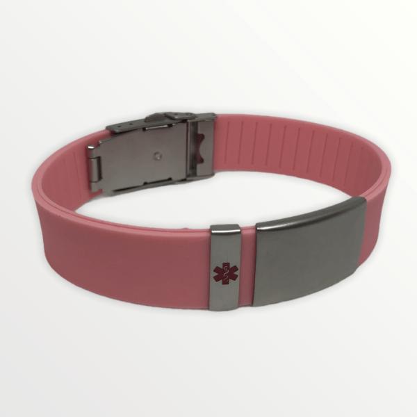 Body ID náramek růžový s červeným křížem
