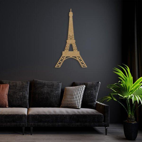VIP 3D dřevěné obrazy do domácnosti na zakázku s motivem na přání - Eiffelova věž, různé barvy