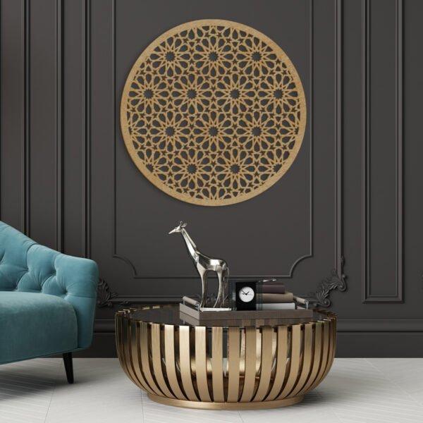 VIP 3D dřevěné obrazy do domácnosti na zakázku s motivem na přání - kruh, různé barvy