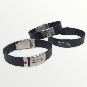 Luxusní silikonový Body ID náramek