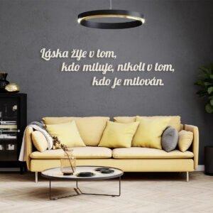 VIP 3D dřevěný obraz do domácnosti na zakázku s motivem na přání - slogan 02, různé barvy