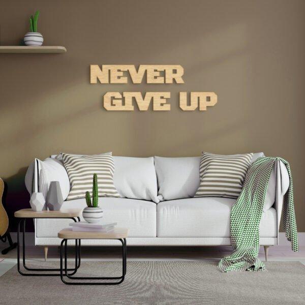 VIP 3D dřevěný obraz do domácnosti na zakázku s motivem na přání - slogan 01, různé barvy