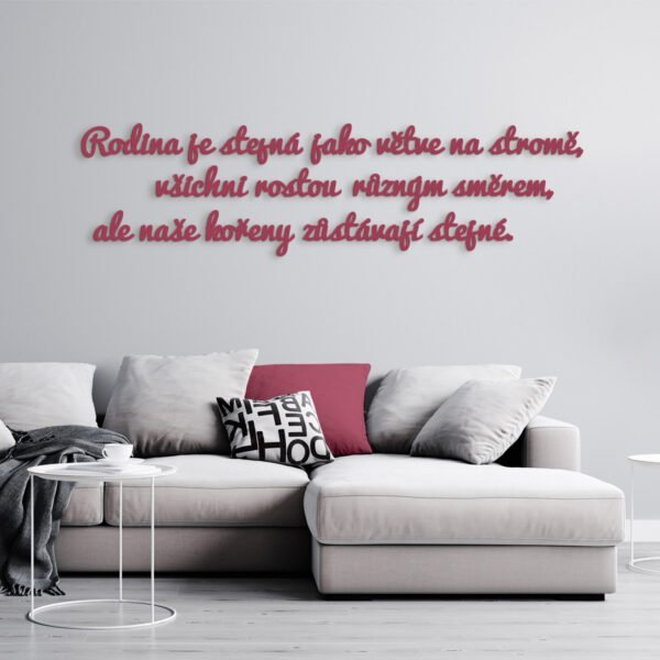 VIP 3D dřevěný obraz do domácnosti na zakázku s motivem na přání - slogan 03, různé barvy