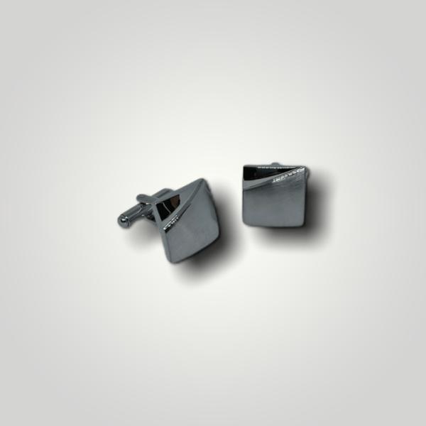 Manžetové knoflíčky ocelové čtverec s gravírováním - 50293
