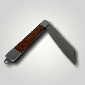 Kapesní nůž otvírací s dřevěnou rukojetí s vlastním textem nebo logem - 99780