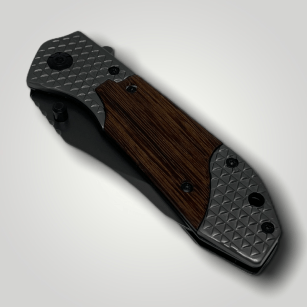 Kapesní nůž zavírací dřevo + kov s vlastním textem nebo logem - 41132