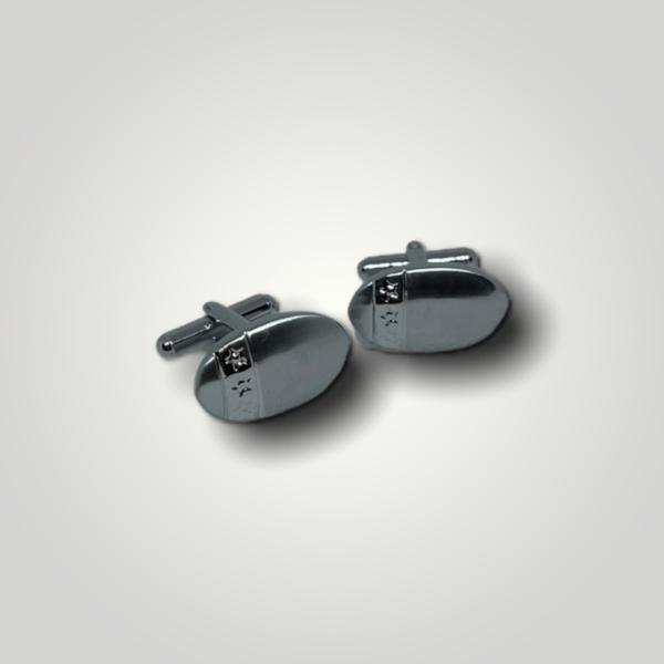 Manžetové knoflíčky ocelové ovál s gravírováním - 50294