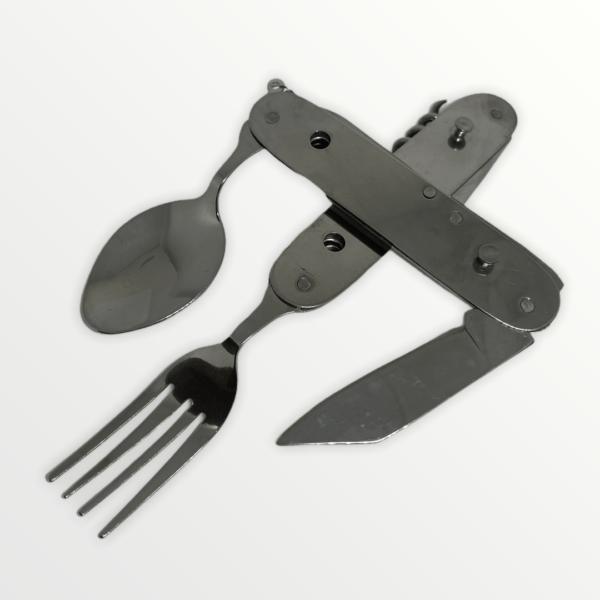 Multifunkční kapesní nůž ocelový s příborem s vlastním textem nebo logem - 6327