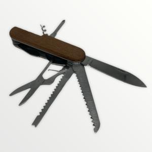 Multifunkční kapesní nůž dřevěný s vlastním textem nebo logem - 6326