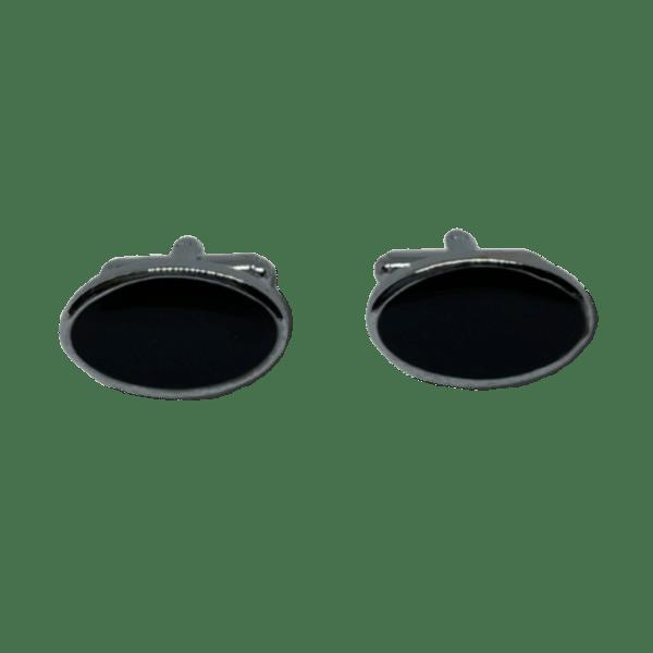 Manžetové knoflíčky ocelové s výplní ovál s gravírováním - 50295