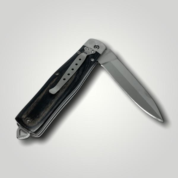 Kapesní nůž zavírací dřevěný vystřelovací s vlastním textem nebo logem - 44898