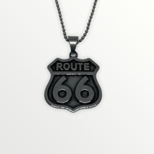 Ocelový přívěšek ROUTE 66