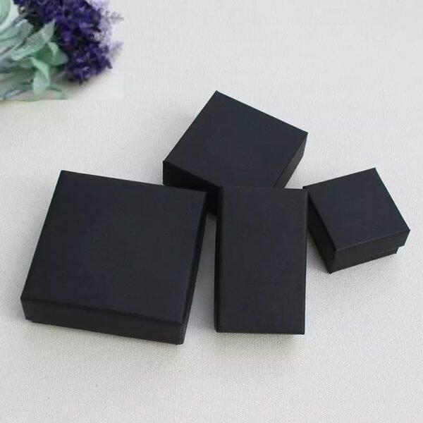 Univerzální papírová dárková Krabička černá - různé velikosti, 6457